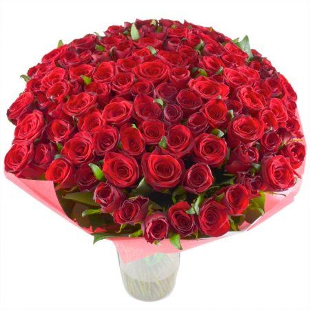 Bouquet 101 red roses 60 cm