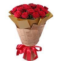 Bouquet 21 roses Zaporozhie