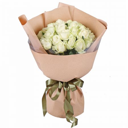 Bouquet 25 white roses