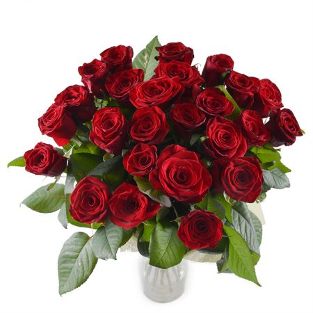 Bouquet 25 roses 70 cm