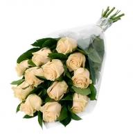 Bouquet loving mother