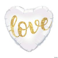 Love Glitter Heart Balloon