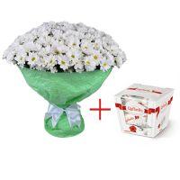 Bouquet Chrysanthemum + Raffaello