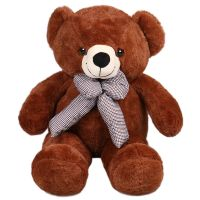 Brown teddy with a bow 60 cm