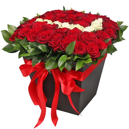 Bouquet Roses in box 'With love'