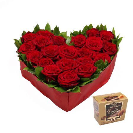 Bouquet ы в моем сердце + Конфеты Трюфели