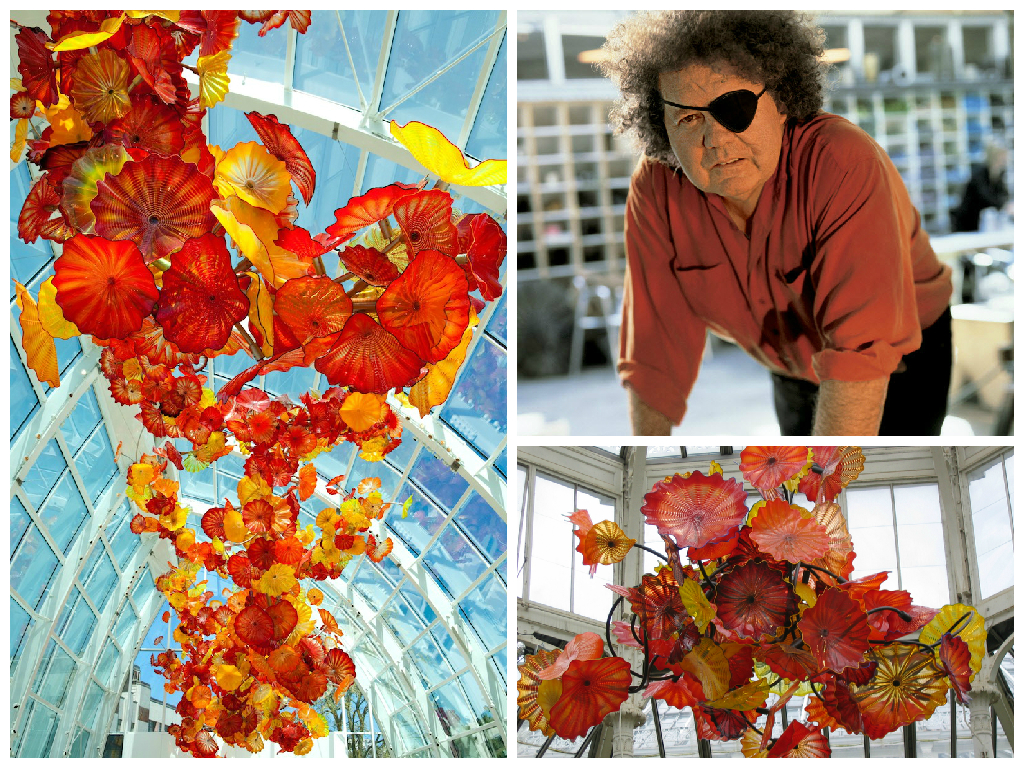 Dale Chihuly glass sculptures
