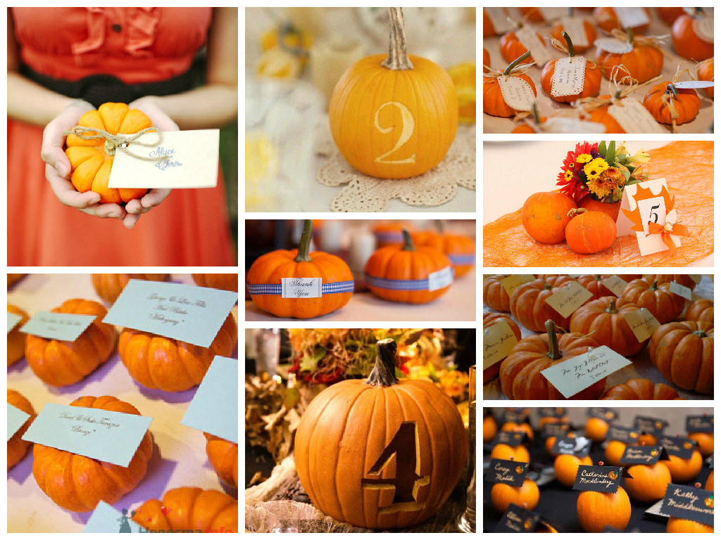 Decorated pumpkins for guests
