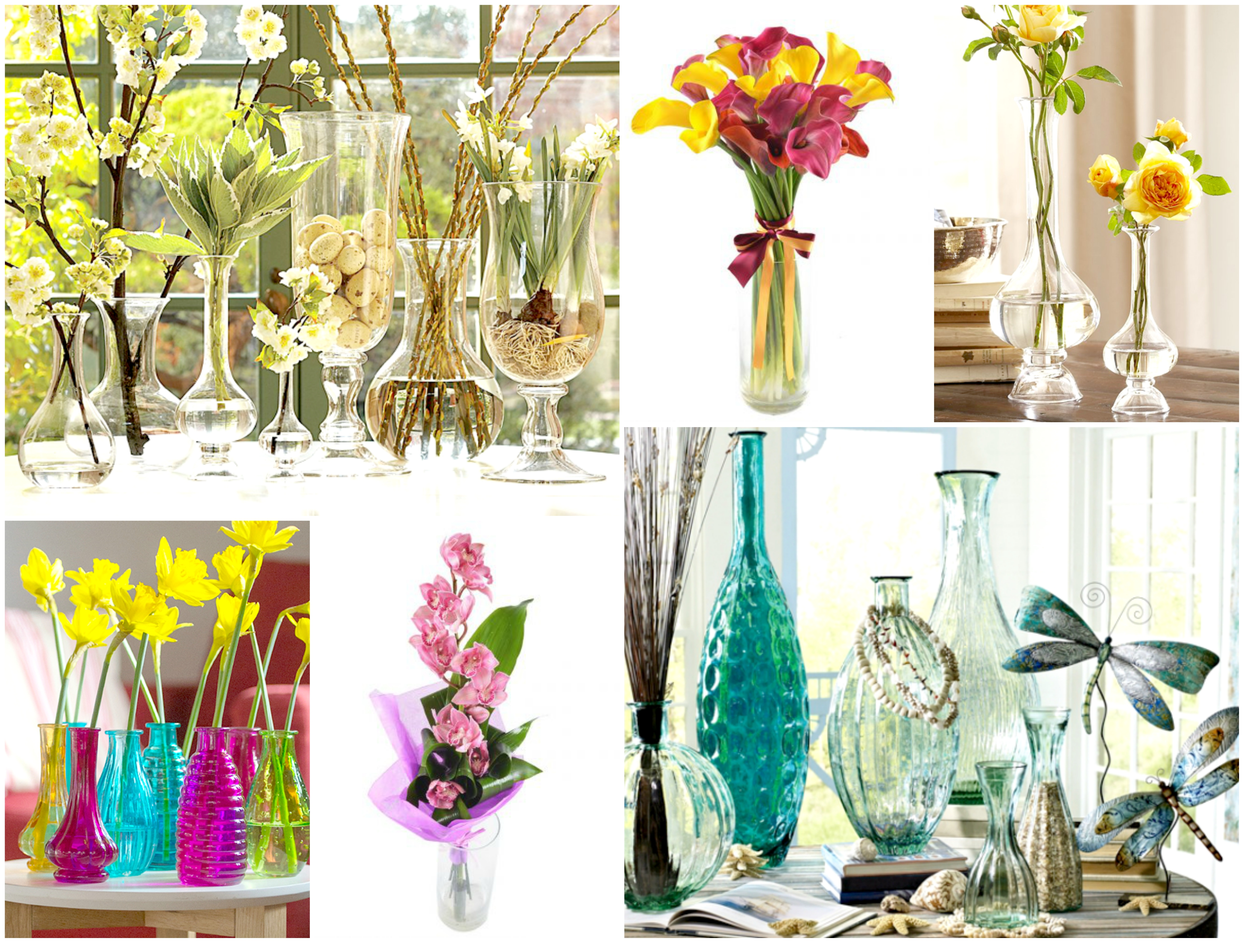 Simple glass vases